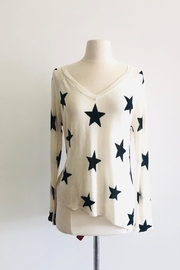 Central Park West V-Neck Star Sweater - Product Mini Image