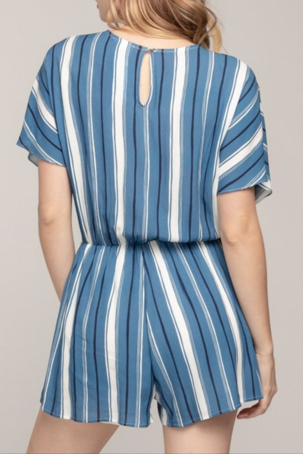49c5b3847393 Everly V-Neck Striped Romper from California by Apricot Lane ...