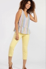 Tribal V-neck striped top - Product Mini Image