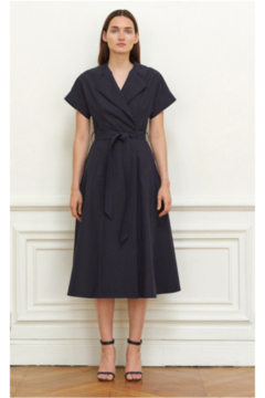 Martin Grant V-NECK STRUCTURED COTTON DRESS - Alternate List Image