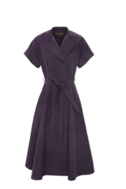 Martin Grant V-NECK STRUCTURED COTTON DRESS - Front cropped