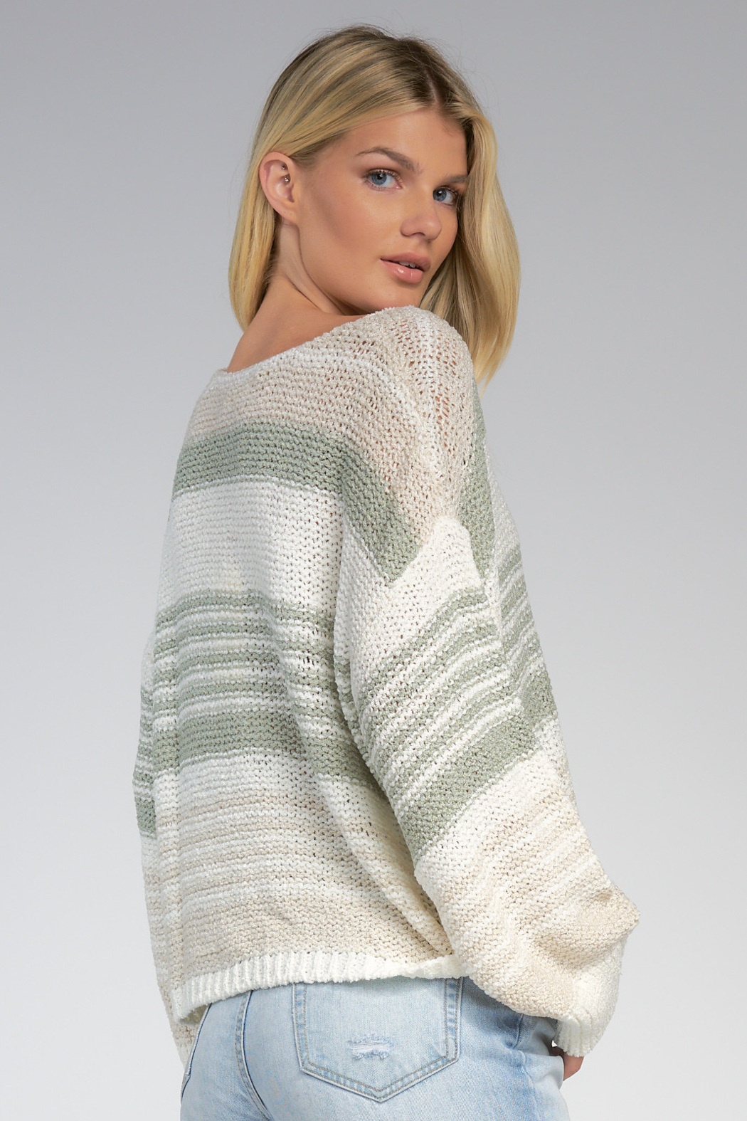 Elan  V-Neck Sweater - Front Full Image