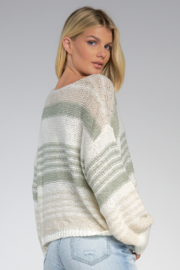 Elan  V-Neck Sweater - Front full body