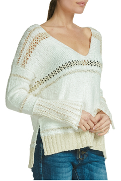 Elan V-neck sweater with crochet - Product List Image