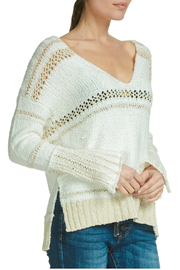 Elan V-neck sweater with crochet - Product Mini Image