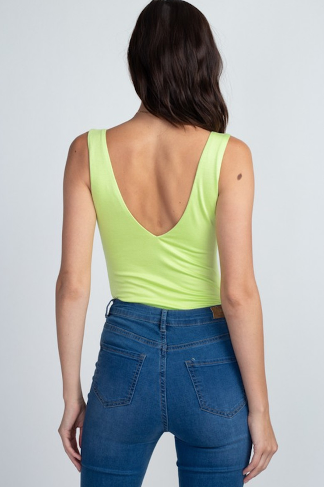 Fore Collection V Neck Tank Bodysuit - Front Full Image