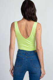 Fore Collection V Neck Tank Bodysuit - Front full body