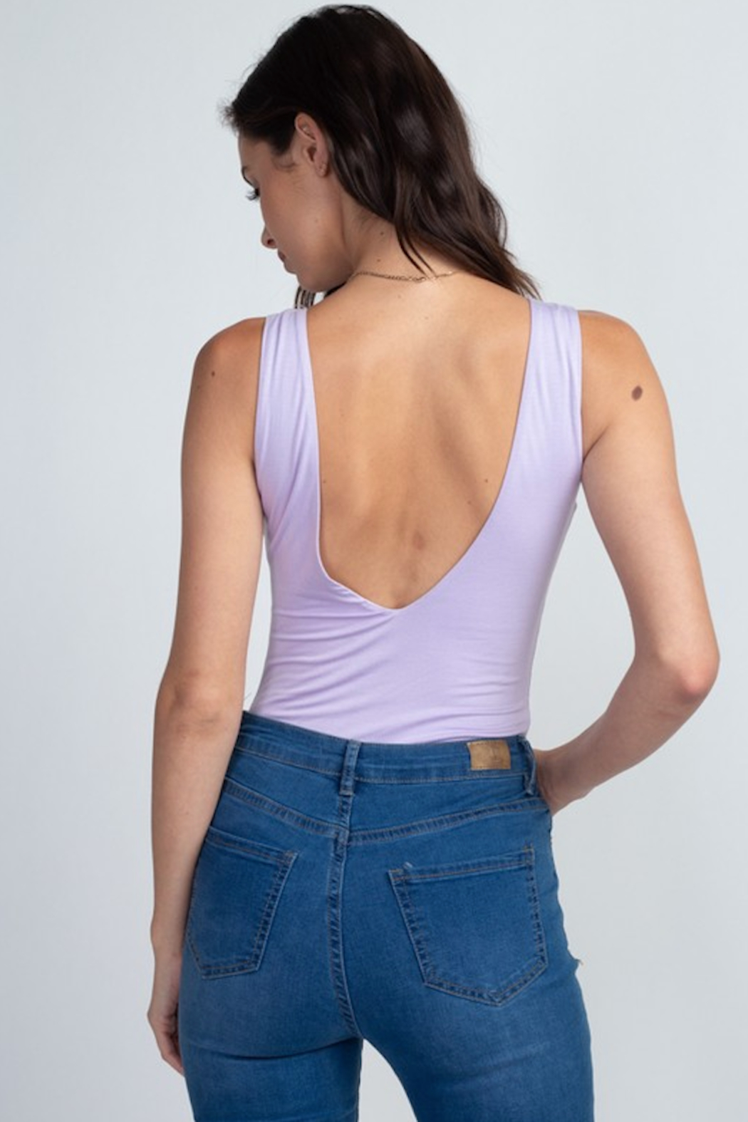 Fore Collection V Neck Tank Bodysuit - Main Image