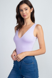 Fore Collection V Neck Tank Bodysuit - Front cropped