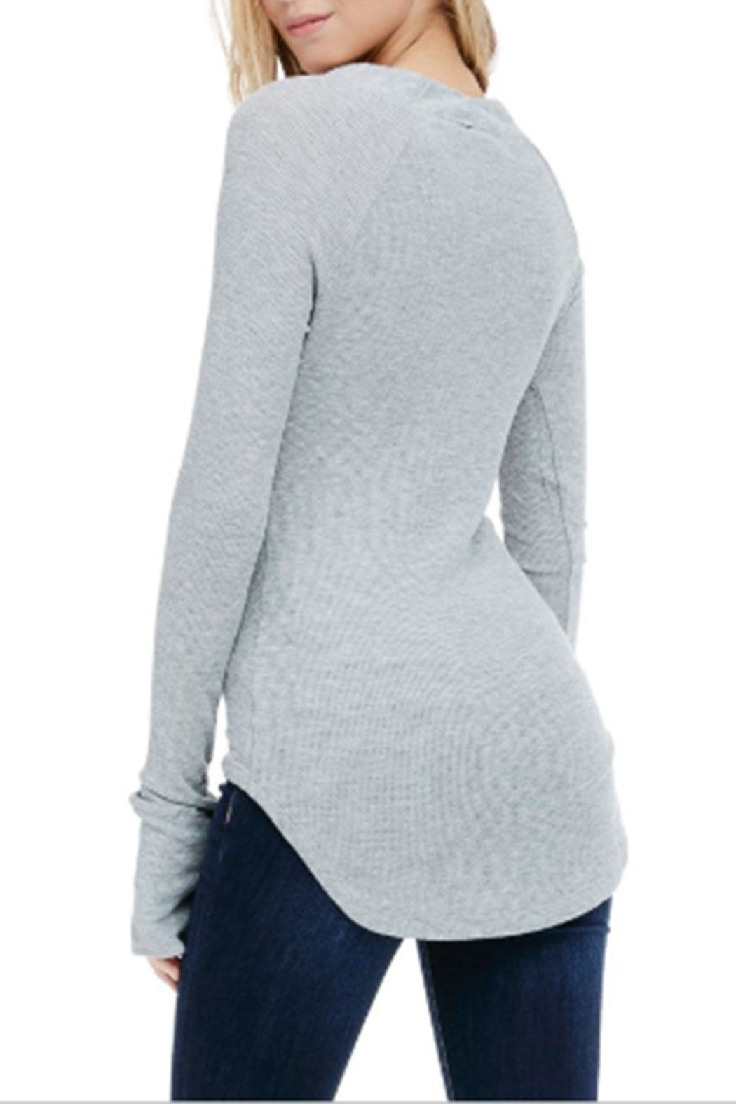 Sapphire O V-Neck Thermal Long-Sleeve - Front Full Image