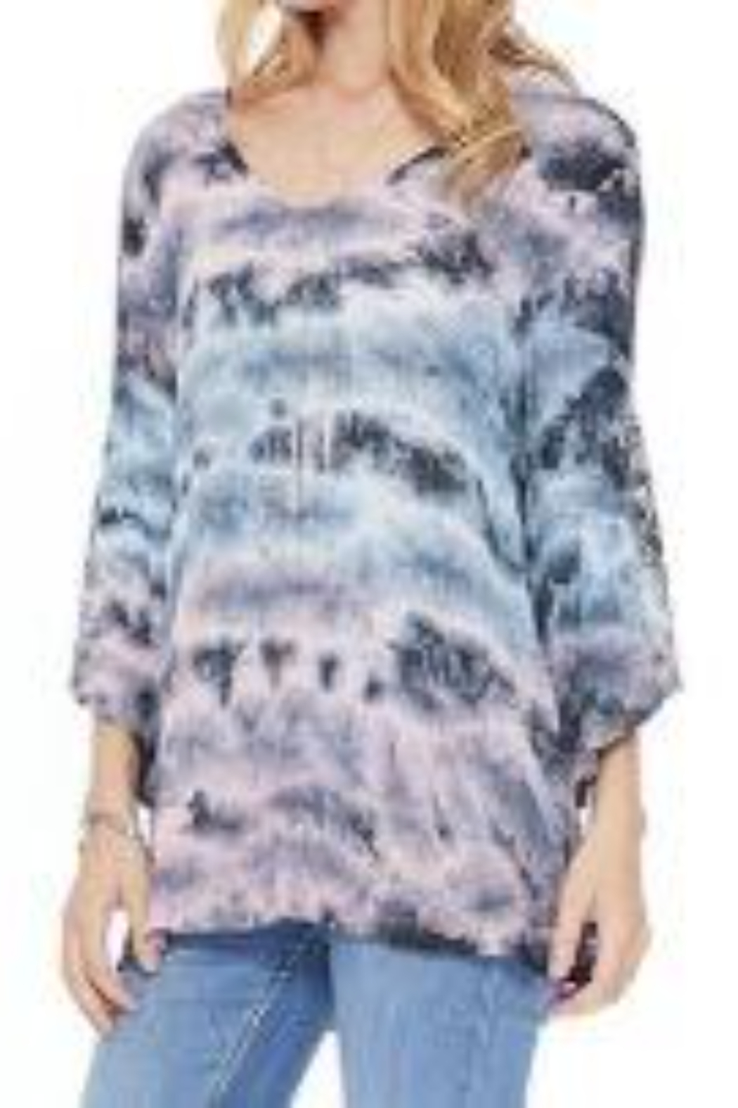 T Party V-Neck Tie-Dye Tunic - Main Image