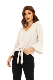 Veronica M V-Neck Tie Front Top - Product Mini Image