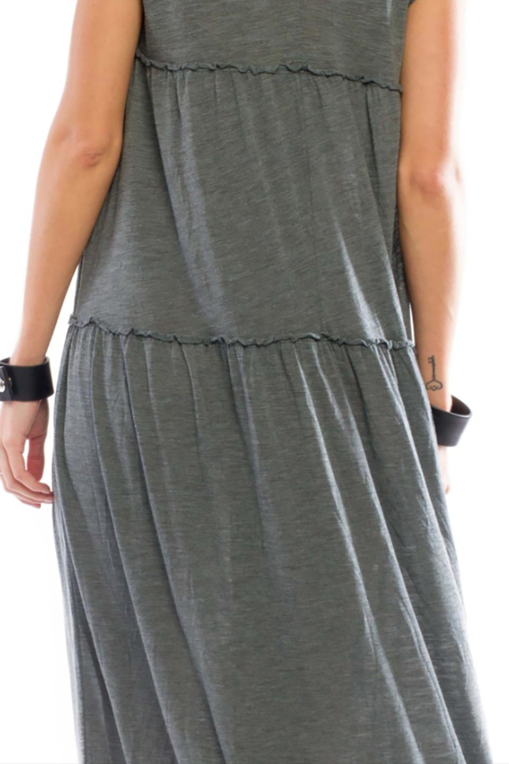 Anama V-Neck Tiered Maxi - Side Cropped Image