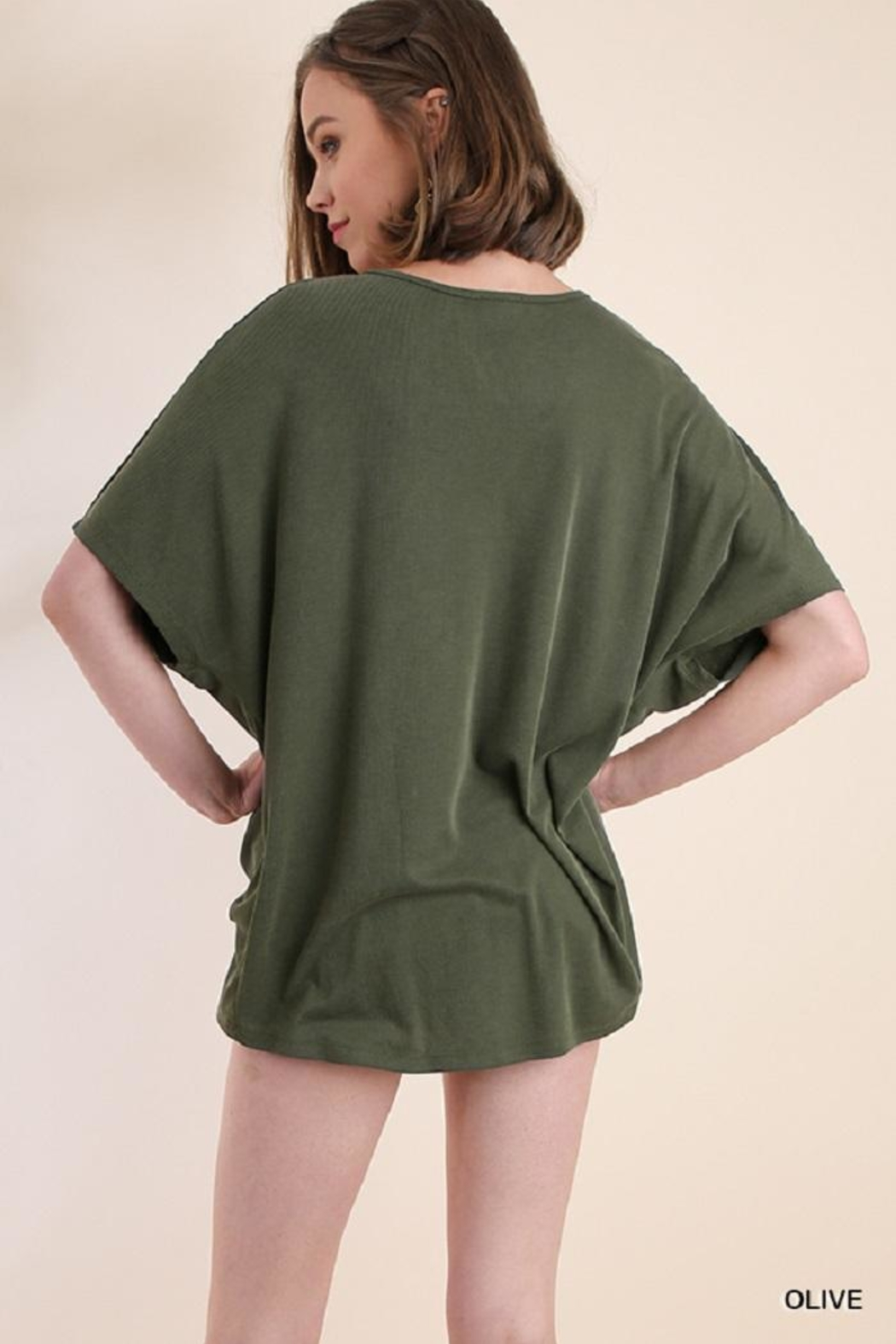 Umgee USA V-Neck Top - Front Full Image