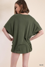 Umgee USA V-Neck Top - Front full body