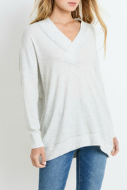 Paper Crane V-neck top - Front cropped