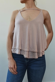 Anama v-Neck Top Cream - Product Mini Image