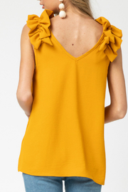 entro  v-neck top featuring ruffle detail - Side cropped