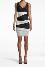 Nicole Miller  V-neck Tuck Dress - Product Mini Image