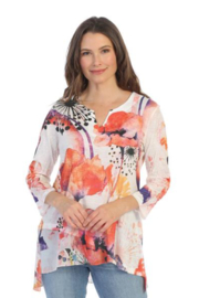 Jess & Jane V-Neck w/ Chiffon Tunic - Product Mini Image