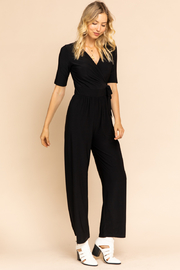 Gilli  V-Neck Wrap Jumpsuit - Product Mini Image