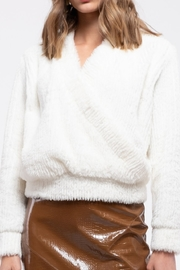 Moon River V-Neck Wrap Top - Front cropped
