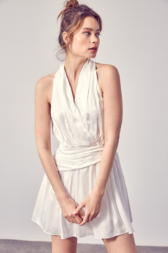 Do + Be  V-Neck Wrapped Ruched Dress - Product List Image