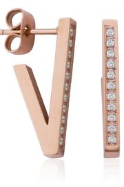 Bling It Around Again V Stud Earrings - Front cropped
