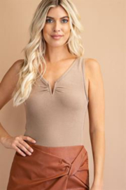 Glam V-Wire Sleeveless Bodysuit - Front cropped