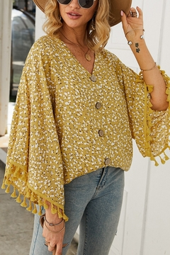 Lyn -Maree's Vacation Button Blouse - Product List Image