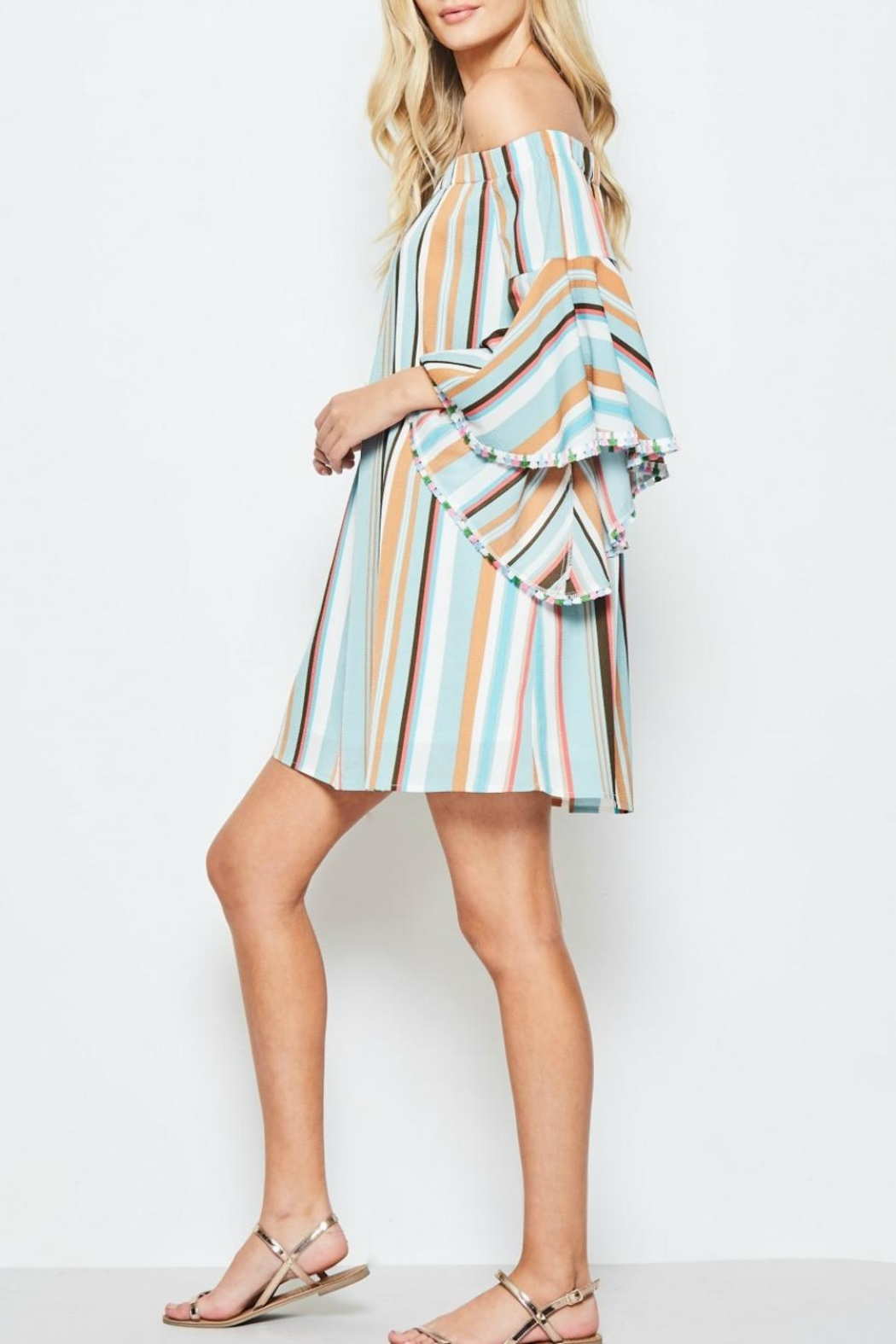 Andree by Unit Vacation Off-The-Shoulder Dress - Front Full Image