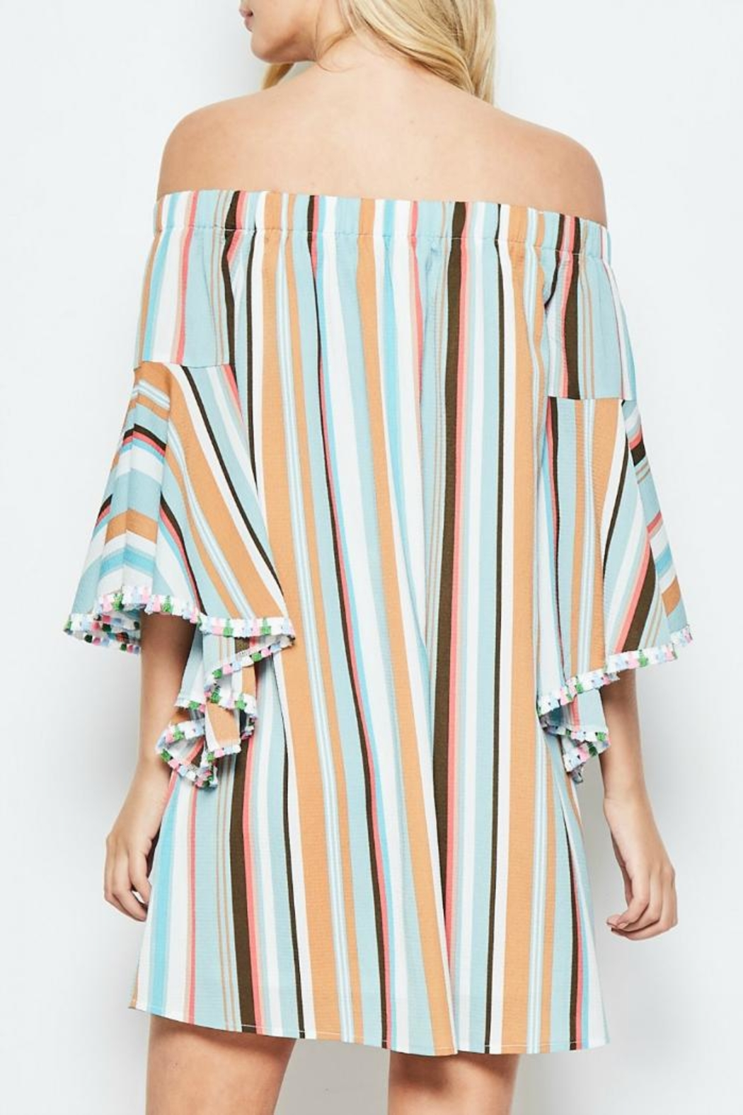 Andree by Unit Vacation Off-The-Shoulder Dress - Side Cropped Image