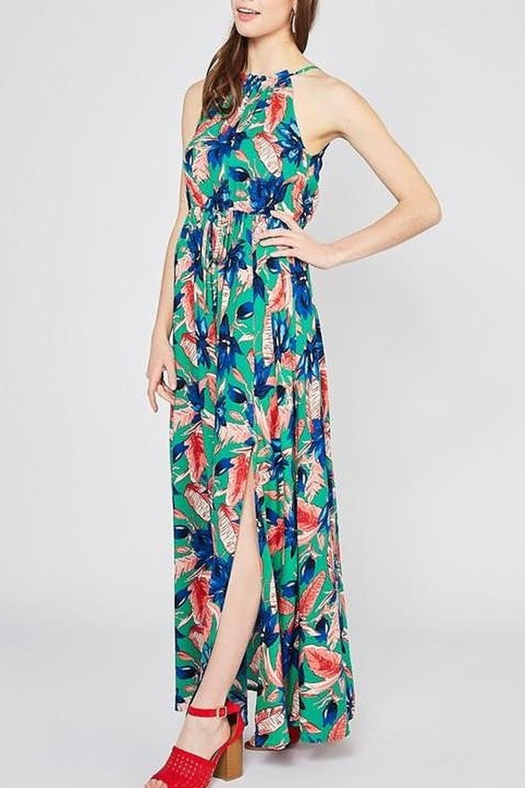 Entro Vacation Vibe Maxi Dress - Front Cropped Image