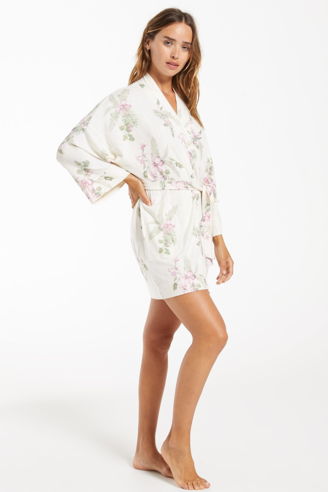 z supply Vacay Floral Robe - Back Cropped Image