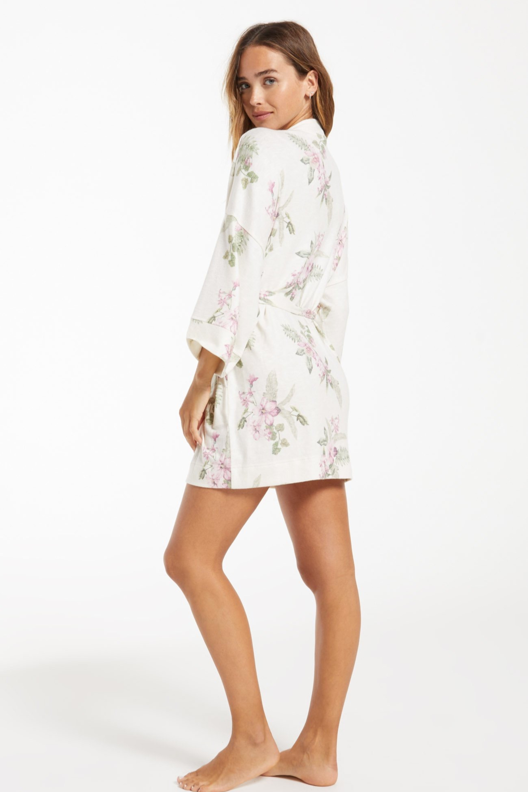 z supply Vacay Floral Robe - Side Cropped Image