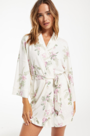 z supply Vacay Floral Robe - Front cropped