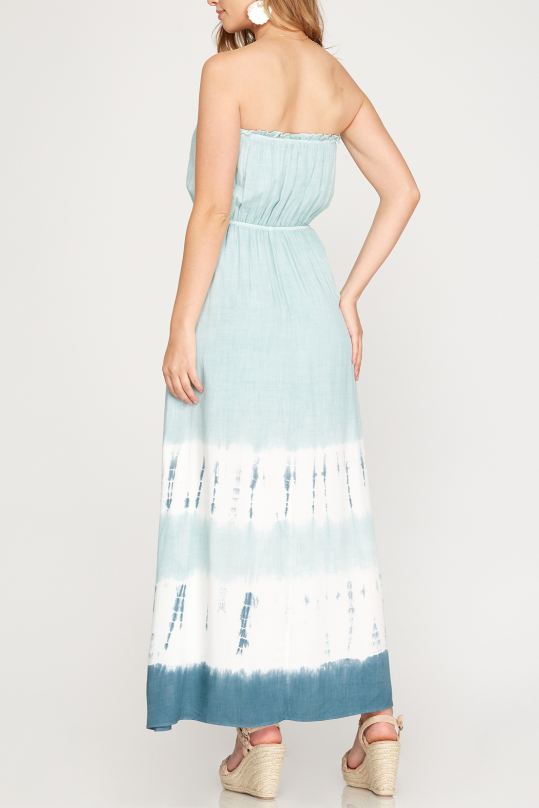 She and Sky Vacay Vibes Maxi dress - Front Full Image
