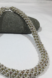 Vachon Designs Silver n Metallic Necklace - Front full body