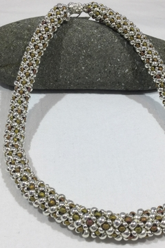 Vachon Designs Silver n Metallic Necklace - Product List Image