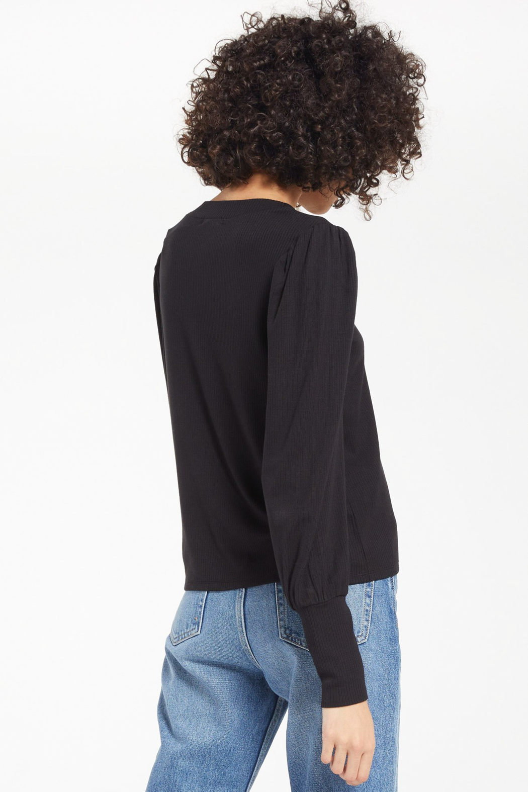 z supply Vada Marled Long Sleeve Top - Front Full Image