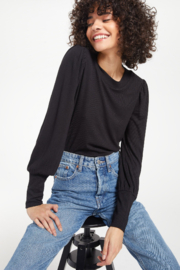z supply Vada Marled Long Sleeve Top - Front cropped