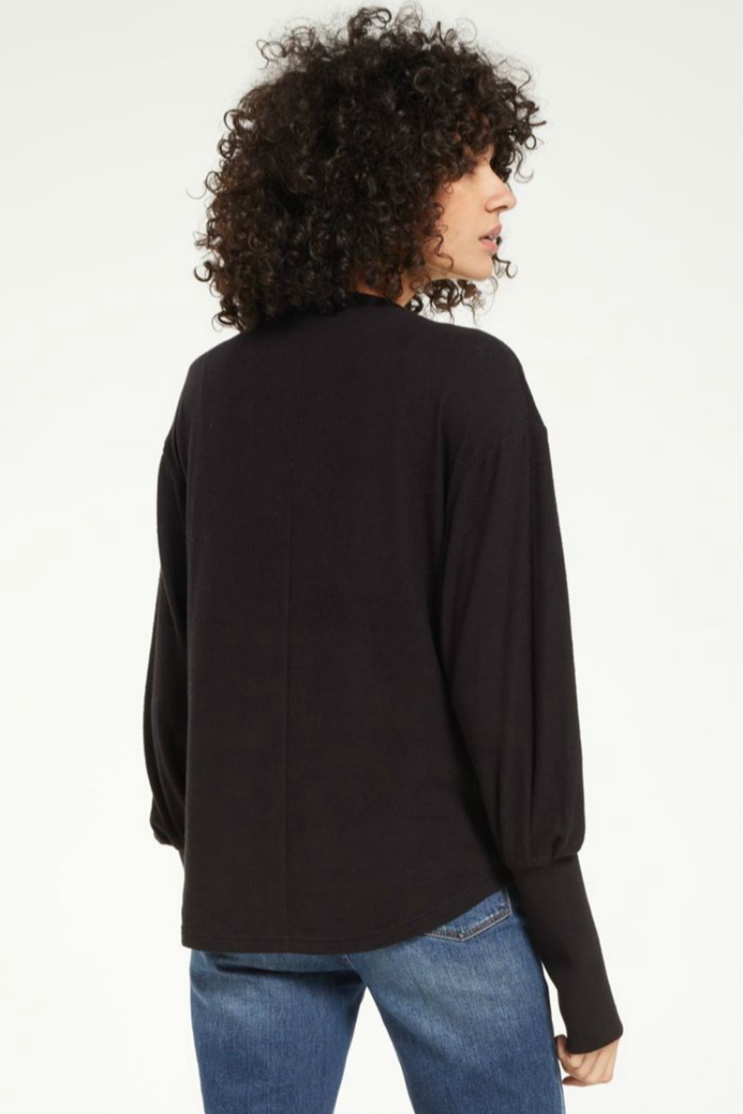 z supply Vada Marled Top - Side Cropped Image