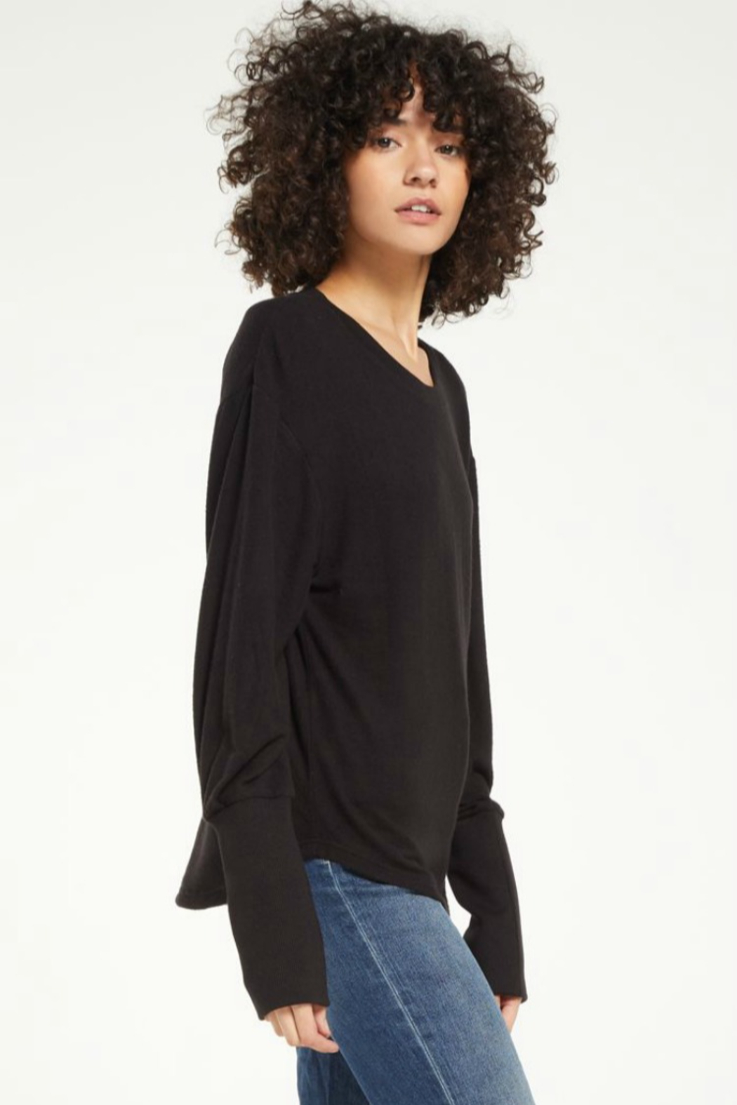 z supply Vada Marled Top - Front Full Image