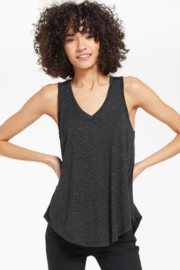 z supply Vagabond Black Sparkle Tank - Front cropped