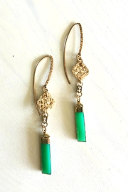 Vahe Twisted Chrysoprase Dangle Earrings - Product Mini Image