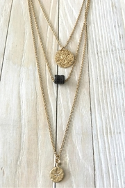Vahe Twisted Gold Black-Diamond Charm-Necklace - Product Mini Image