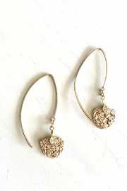 Vahe Twisted Gold Dangler Earrings - Front cropped