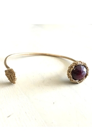 Vahe Twisted Gold Garnet Open-Bangle - Product Mini Image