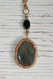 Vahe Twisted Labradorite Stone Necklace - Front full body