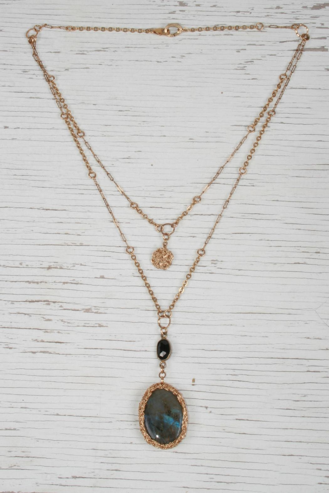 Vahe Twisted Labradorite Stone Necklace - Front Cropped Image